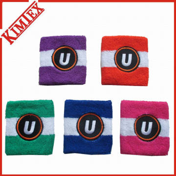 Baumwoll Terry Promotion Stirnband Schweißband mit Stickerei Logo