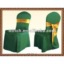 Couvertures de chaise Polyester charmant avec ceinture satin