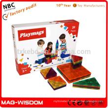 2016 Playmags Magnetic Building Tiles Toys 32Pcs Sets Bon prix