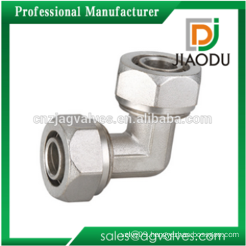 Brass Equal Elbow Brass Compression Fittings For PEX-AL-PEX Pipe