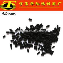 Carvão activado de carvão negro cilíndrico para venda