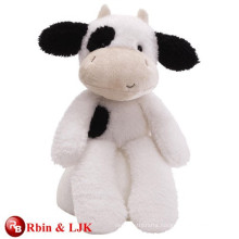 customized OEM design stuffed black cow toy
