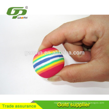 Colorful EVA Rainbow Golf Ball Toys For Indoor Practice Golf