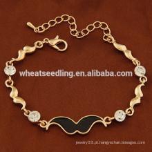 Nova chegada de ouro e prata cadeia de moda pulseira de barba