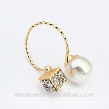 2015 nuevo anillo al por mayor plateado oro de la perla del diseño
