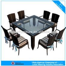 Moderna sala de jantar móveis de vime de lazer rattan mesa de jantar e cadeira (4303)
