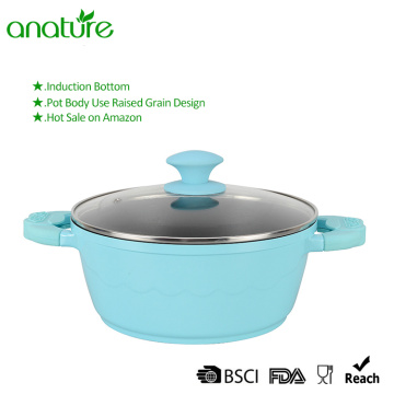 Light Blue Die Cast Non Stick Aluminum Casserole