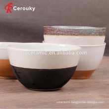 Promotional cheap ceramic round salad bowl