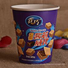 Tazas de papel desechables para comida de bocadillos