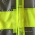 Veste de sécurité fluorescente jaune orange économique avec ruban réfléchissant