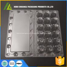 Caixa de plástico de ovo de codorna 18 furos