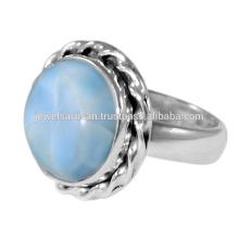 Schöner Entwurf Larimar Edelstein 925 Sterlingsilber-Ring