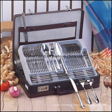 84 PCS Cutlery Set Leather Box (CT531)
