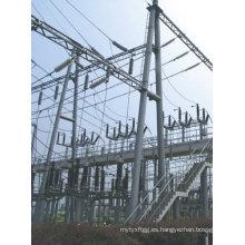 110kv Hot DIP Subestación galvanizada Estructura Steel Pole