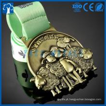 Fábrica de medalhas grossistas de boa qualidade die casting medalha de metal personalizada