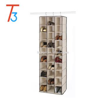 Prateleira de loja de sapato de suspensão 30 seções com venda quente