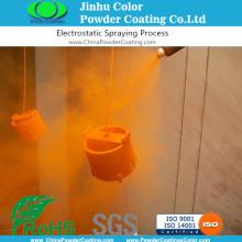 Orange Silver Metallic Effect Powder Paints