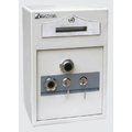 Electronic motorized hotel safe box for hotel room use