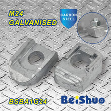 M24 Blind Bolt Connectors Steelwork Fixing Pipe Fitting Beam Clamp Ba1g24