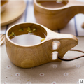Portable Wooden Cup Tea Coffee Cup Camping Cup