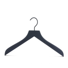 classic black color wooden clothes shop hanger with custom logo