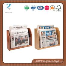 Tischplatten 2-Tiered 2 Pockets Newspaper Rack Fit Standardpapiere
