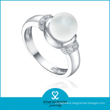 Vogue Platinum Plated Silver Ring Jewellery for Lady (R-0380)
