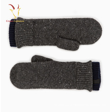 Черный Fringerless Кашемировые перчатки Вязание дизайн для зимы