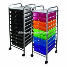 Venta caliente de Vivinature para la carretilla del almacenaje y la carretilla del cajón del plástico