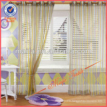 Wholesale Readymade Colorful Stripe Sheer Curtain Design For Living Room