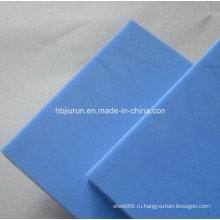Лист 100% Виргинский Actcel пом Делрин в синий цвет