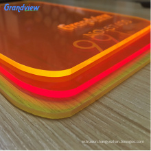 Colorful acrylic sheet plastic fluorescent PMMA