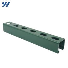 Especificação unistrut por atacado do canal de aço inoxidável galvanizado entalhado c, canaleta de aço