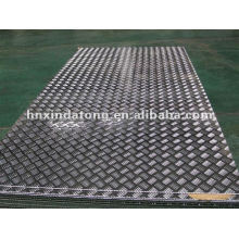 aluminum embossed plate for vehicle