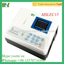 Single channel EGC machine Automatic analysis of digital ecg machine(MSLEC15)