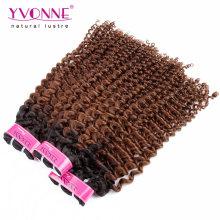 Extension de cheveux bouclés brésiliens Ombre crépus