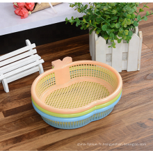 Passoire en plastique de bassin de légumes de cuisine avec la taille multi