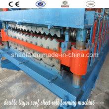 Máquina formadora de rollos en frío de panel de techo de doble capa (AF-R900 / 1000)