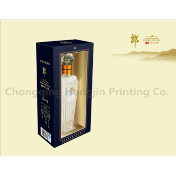 Fertigen Sie Luxuxhochklassige fantastische Papierverpackungskästen für Wein besonders an