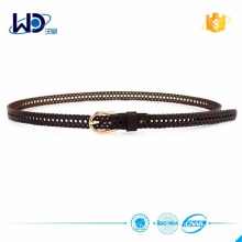 Hot Selling Brown Cut Out Women Leather Belt