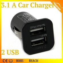 Cargador de batería del alto rendimiento mini Cargador del coche del USB del puerto múltiple
