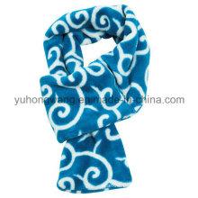 Moda Invierno cálido tejido de punto polar impreso bufanda