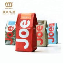 Бортовой Gusset Излечить Запечатанный Нестандартной Конструкции Напечатанный Пластичный Мешок Упаковки Кофе Мощность