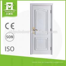 Puerta de madera de teca FPL-3006 para construcción.