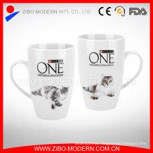 Canecas de porcelana branca por atacado, caneca de café cerâmica, copos de cerâmica canecas