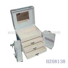 square aluminum hairdressing case with 3 drawers inside from China manufacturer