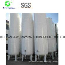 Tipo vertical de 100 m3 de volumen de tanque licuado criogénico