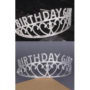 Alloy Crystal Birthday Girl Princess Crowns