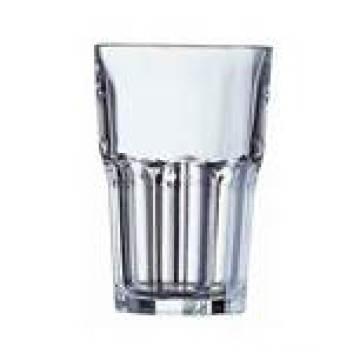 Copa de vaso de vidrio transparente con diseño personalizado (TMGC1605)