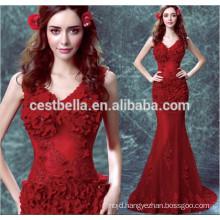 Chic Sexy Sleeveles long fashion Red Mermaid evening Dress
